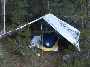 This is from Utah showing my tarp in it's tent setup.