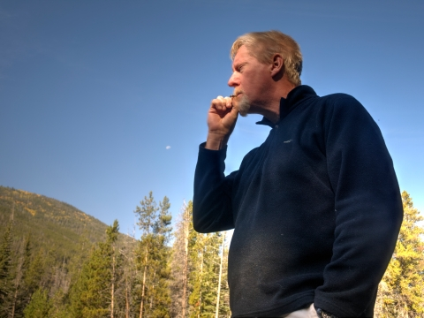 I know it doesn't make sense some of it. Out here is the wilderness surrounded by nature, and we engage in vices. Here, both Greg and I brought fresh Bugler tobacco with rolling papers. It is so pleasing to roll a nice cigarette, light it, and enjoy it in such a surrounding.