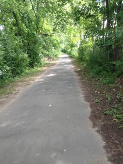 Nice clean wide bike path