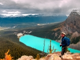Atop The Big Beehive above Lake Louise.