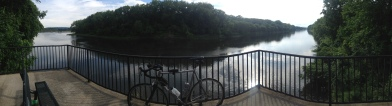 Against the backdrop of the Mohawk River