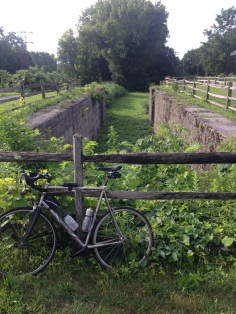 My Czar this past summer on the Mohawk Rail Trail in NY