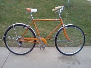 Schwinn Collegiate that is close to what I remember about mine. Certainly the same color. All that chrome.